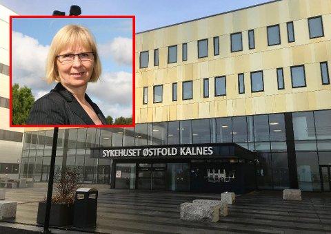 Nye tiltak: Sykehuset Østfold og klinikksjef for psykisk helsevern, Irene Dahl Andersen (innfelt), har måttet endre rutiner etter kritikk fra Svilombudsmannen.