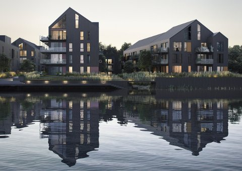 Bruket Brygge på Gressvik, ett av flere prosjekter som gir rimeligere første bolig.