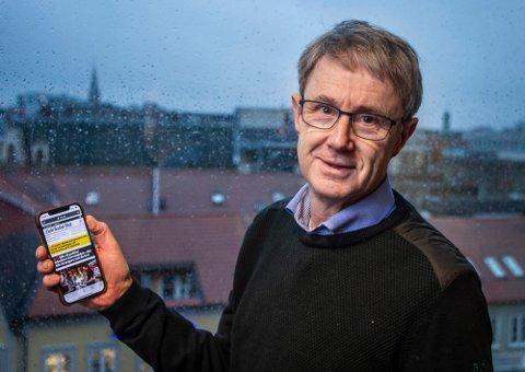 Dekningsdirektør i Telenor, Bjørn Amundsen, har gode mobilnyheter. (Arkivfoto: Geir A. Carlsson)
