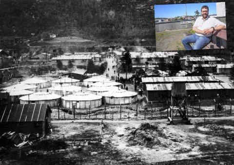 GRUSOM SKJEBNE: Kun 100 av de 900 fangene i Beisfjordleiren kom tilbake. Direktør for Narviksenteret Eystein Markusson (innfelt) sier vi har et ansvar for å huske dem. Foto: Ukjent/Jan Erik Teigen.