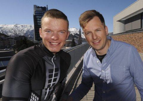 TEAM JOHNSEN: Vegard Johnsen (til venstre) og medhjelper Ole Fredrik Hansen var duoen bak satsingen, som nå er over.