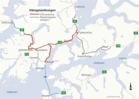 Hålogalandsveien, anbud, entreprenører, Statens vegvesen