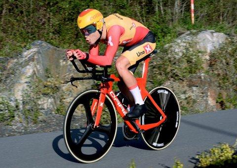 Tobias Foss, her under UnoX-rittet i Øyer 31. august, der han syklet inn til åttendeplass.