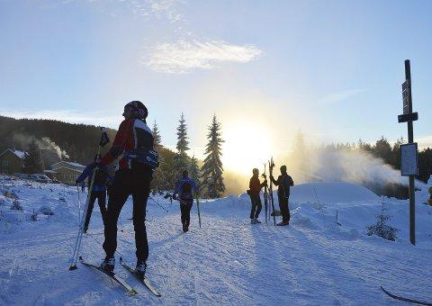UT PÅ TUR: Flotte skiforhold på Brovoll - og nok snø.