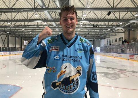 KUNNE SMILE BREDT: Herman Plogås scoret det avgjørende målet i 5-4-seieren mot Gjøvik.