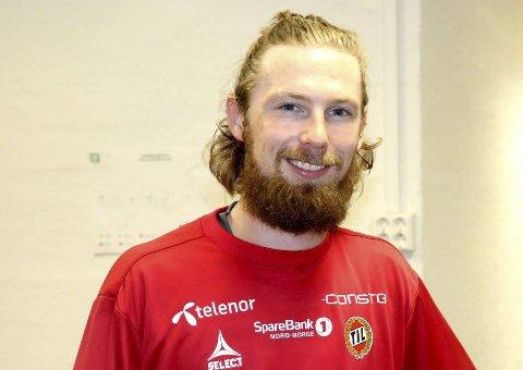 SKJEGG: Thomas Drage med et litt nytt utseende trener med TIL i landskamppausen. Foto: Anders Mo Hanssen