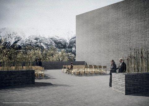 KREMATORIUM: Dette er et bilde fra tiden da et privat selskap; Helgeland Krematorium, jobbet med å realisere et interkommunalt krematorium i Vefsn.