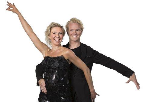 Kristin Strørmer Steira og hennes dansepartner Fredric Brunberg Foto: Espen Solli/TV2