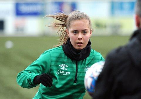 FØRSTE LANDSLAGSMÅL: Sofie Bjørnsen, her på Klepps første trening i 2020, scoret for Norge J17 mot Italia.