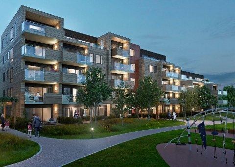31 SOLGT: Opprinnelig var det tenkt 68 leiligheter i Sølvparken. Det kan bli 63 istedenfor.