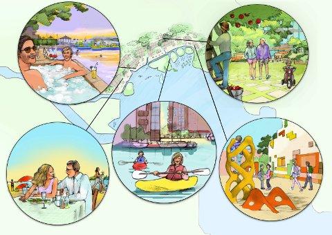 Mange forslag: Det er mange forskjellige ønsker og innspill til hvordan Fjordbyen kan bli.