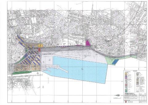 Samordnede reguleringsplanen for veg, havn og bane i 1999.