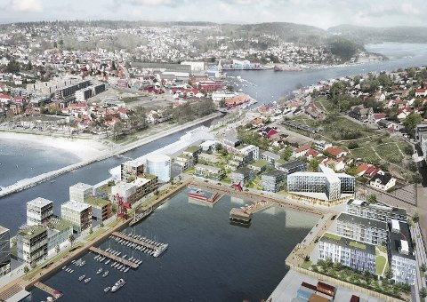 Et av flere forslag i forbindelse med byutviklingen i Moss