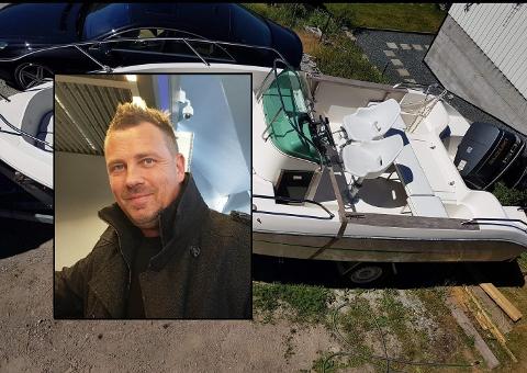 FUNNET: Båten til Hans Erik Børjesson ble funnet på Rolvsøy i Fredrikstad.