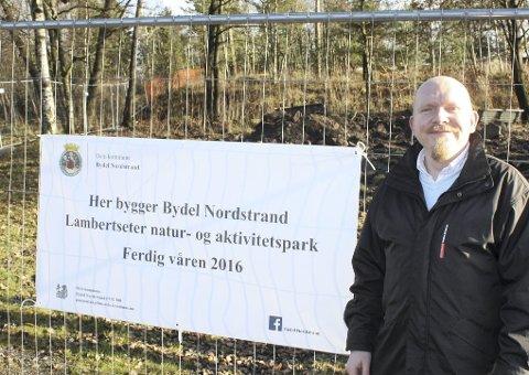 Spent politiker: Lars Petter Solås (Frp) har fulgt prosjektet fra starten i 2012 og ser frem til åpningen av parken i mai neste år