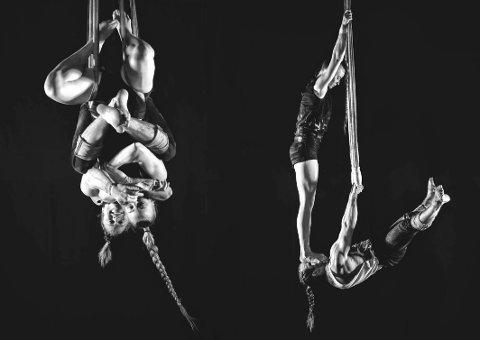 EINA SØNDAG: Opplev trapeskunstnerne Eivind Øverland fra Norge og Lalla la Cour fra Danmark hos R:E.D. på Eina.