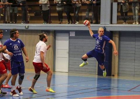 TOPPSCORER: Vemund Johnsrud scoret ni mål mot Storhamar 2.