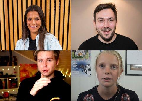KAN VINNE: Funkygine (oppe til venstre), Dennis Vareide, Murdrocks og ThaleTot er nominert til priser under Gullsnutten, som avholdes på Gjøvik 15. august.