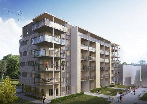 POPULÆRE: I februar starter byggingen av den siste boligblokken i Åstorget. ILL: Veidekke AS
