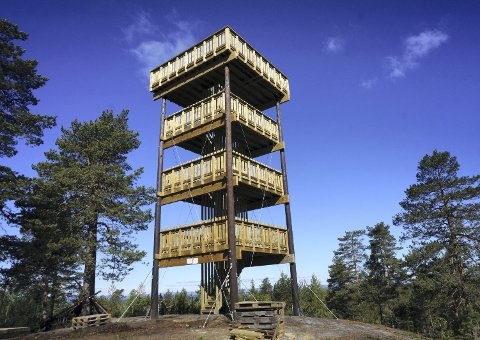 Hjellsåstårnet: Et imponerende 12 meter høyt utsiktstårn lett tilgjengelig sørvest i Gaupesteinmarka. Det er satt opp av TÅRNLAUGET i Kråkstad IL, og  offisielt åpnet 10. juni 2017.
