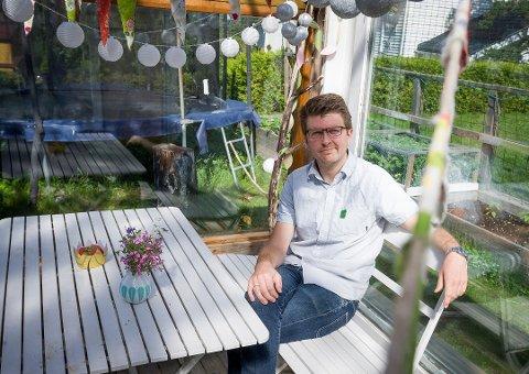 FORNØYD: Hans Martin Enger, ordførerkandidat i MDG er knallfornøyd med partiets oppslutning i skolevalget.
