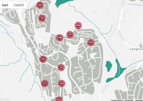 Flere husstander er rammet av strømbrudd på Langhus lørdag morgen. Fredag kveld var det også problemer.