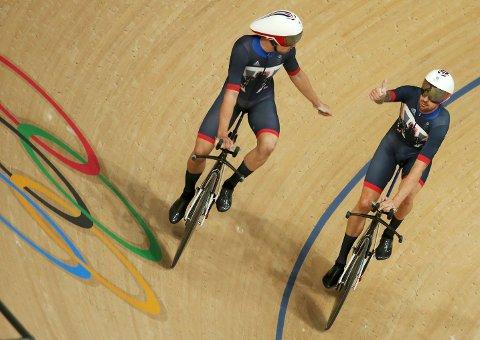 Bradley Wiggins jubler for et nytt OL-gull..