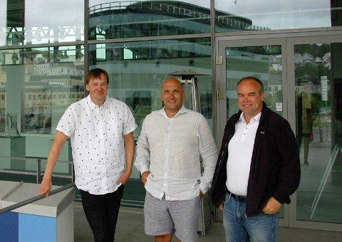 GODT SAMARBEID: Andreas Gilhuus, Jarle Sølyst og Kjetil Viker har et godt samarbeid.