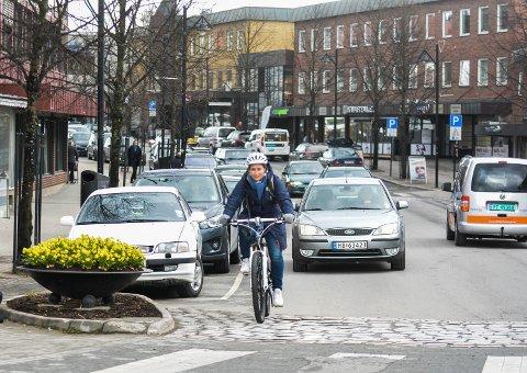 SYKLE TIL JOBBEN: I ettermiddag trilles Sykle til jobben-aksjonen i gang i Elverum. Illustrasjonsfoto: Cathrine Loraas Møystad
