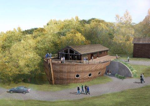 IKKE LUFTSLOTT: Mange trodde at arken var et luftslott. Nå skal den bygges.