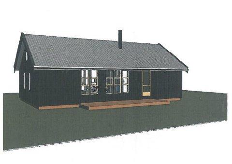 Hytte: Grunneier foreslår å bygge denne hytta ved Gloppetjønn.