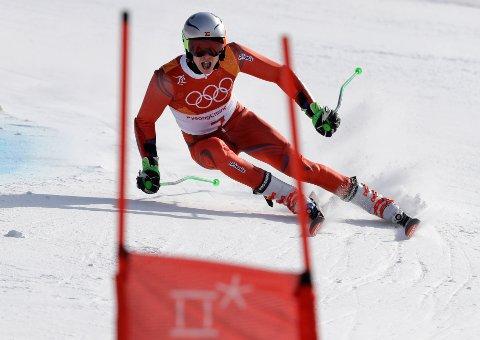 MEDALJE: Henrik Kristoffersen tok sølv.