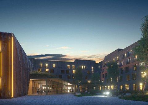BYGGESTART: 1. oktober starter arbeidet med Miklagard hotell på Kløfta. Alle illustrasjoner: LPO Arkitekter.