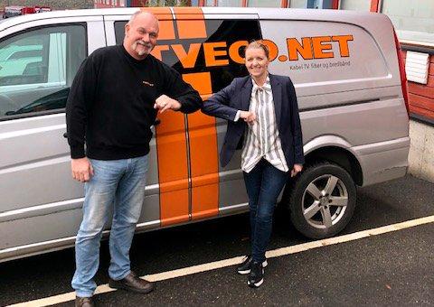 NY EIER: Werner Eriksen og Anne Berit Rørlien har slått forretningene sammen. (Foto: Viken Fiber AS)