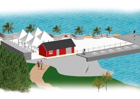 DISPENSASJON: Hurum Strandhotell AS fikk før jul i fjor lov av Asker kommune til å legge nytt betongdekke, bygge betongmur med sitteplasser og lage adkomst til flytebrygge. Nå er dispensasjonen trukket.