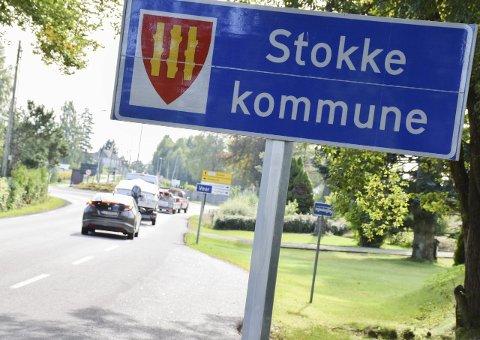 Omstridt grense: Grensa mellom Vear i Stokke og Bjelland i Tønsberg.