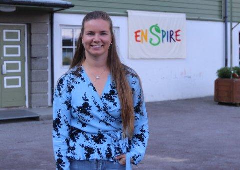 NY REKTOR PÅ NY SKULE: Marie Stensholt er rektor på Fresvik Enspire-skule.