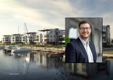 Prosjektmegler for Svelvigen Brygge, Andreas Johnsrud i DNB Eiendom, ser lyst på salget av enheter, men merker en nedgang.