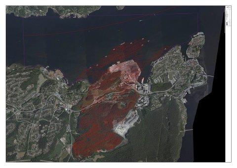 GRUVENE: Dette er oversiktskart over Norcems gruveganger til Kjørholt og Dalen gruver i Brevik. I en rapport som NOAH har sendt til Miljødirektoratet denne uka, konkluderer NOAH med at dette er det eneste egnede stedet i Norge og Sverige til fremtidig deponi for farlig avfall.
