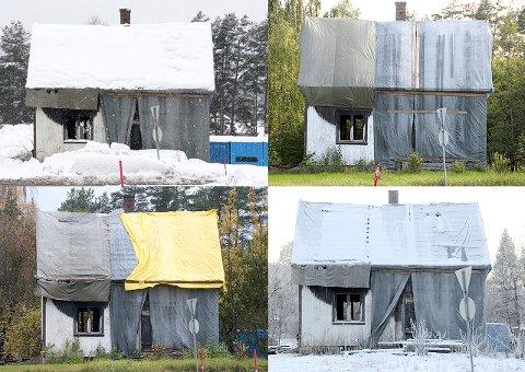 FRA IDYLL: - Idyllen som en gang var der, ble brutt. Industrien og byen vokste innpå, sier Sølvi Strand om fotoprosjektet der hun dokumenterte huset gjennom en årrekke.FOTO: SØLVI STRAND