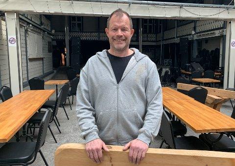 OVERTAR: Hans Arne Frøland er allerede i gang med sitt nye prosjekt, og har planene klare.