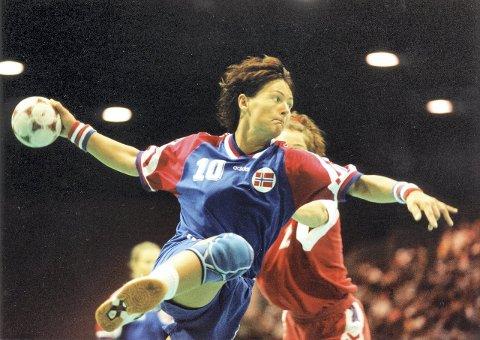 TIL KRISTIANSUND: Tidligere landslagsspiller Trine Haltvik kommer til Kristiansund for å ha håndballskole.