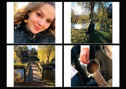 HØSTBILDER: Iselin Rolness (14) fra Vestskogen har dokumentert seg og litt av livet sitt i disse fire bildene.