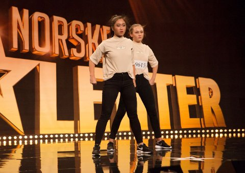 KOMMER: Linda Tran og Hedda Sanne Melvold kommer rett fra Norske Talenter-finale til gymnastikkfestivalen.