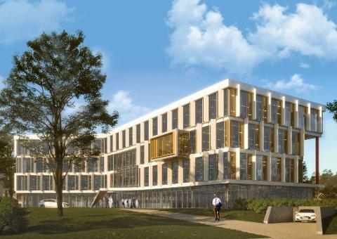 KONTORBYGG: Kilen-området er under stadig utvikling. I det nye kontorbygget blir det plass til rundt 200 arbeidsplasser.
