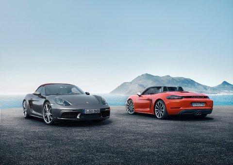 FIRE SYLINDRE: Boxtser-modellen til Porsche får helt nye motorer.