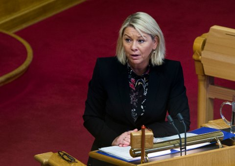 OSLO  20161026. Næringsminister Monica Mæland (H) under muntlig spørretime på Stortinget, onsdag.  Foto: Berit Roald / NTB scanpix