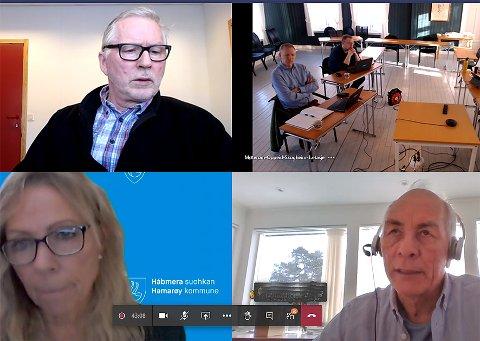 Teams: Formannskapsmøtet i Hamarøy foregikk på Teams uten at det la noen demper på debattiveren.