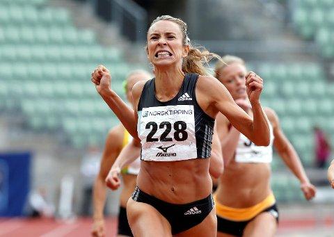 Ingvill Måkestad Bovim tok seg grekt til finalen på 1500 meter i EM i Amsterdam fredag. Søndag løper hun for medalje, og for å ta OL-kravet! Bildet er fra Bislett tidligere i år.