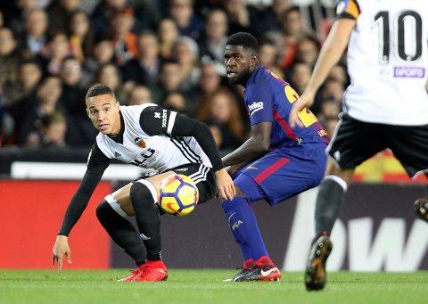 Valencia og Rodrigo (t.v.) har gode muligheter i cupen mot et formsvakt Las Palmas-lag.